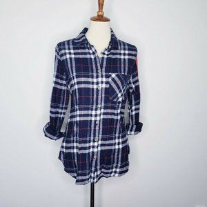 Polly & Esther NWT Juniors Button Down Flannel Top